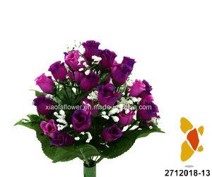Artificial/Plastic/Silk Flower Rose/Rosebud Bush (2712018-13) pictures & photos