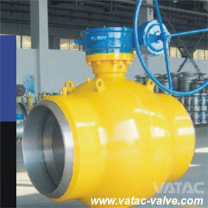 Gear Operated Soft Seat Full Welded Ball Valve pictures & photos