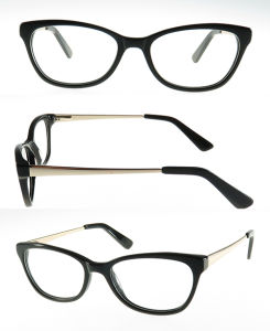High Quality Acetate Optical with Metal Temples of Spring Hinge pictures & photos