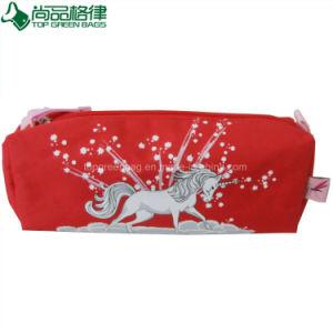 Custom Cartoon Pencil Case Cute Pen Pouch Red Polyester Pencil Bag pictures & photos
