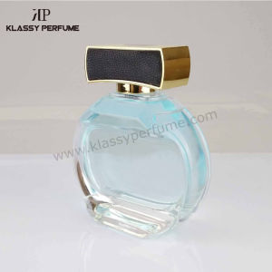 Crystal Clear Glass Perfume Bottle with Leather Cap
