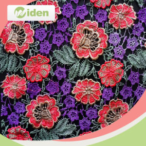 High Quality Swiss African Multi Color 3D Guipure Lace Fabric pictures & photos