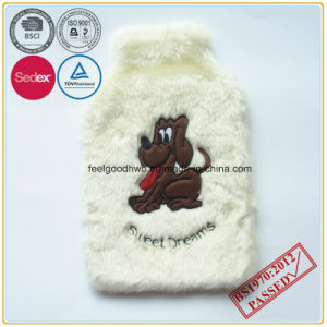 Hot Water Bottle with Embroidery Plush Cover pictures & photos