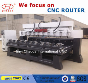 Multi Head 4 Axis CNC Machine, Multi Head CNC Router for 3D Wooden Legs Sculptures pictures & photos
