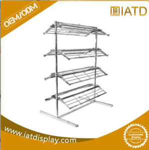 Stainless Steel Umbrella Flooring Display Stand with Chrome Natural Finish pictures & photos