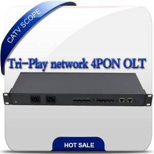 Tri-Play Network CATV Epon 4 Ports Olt