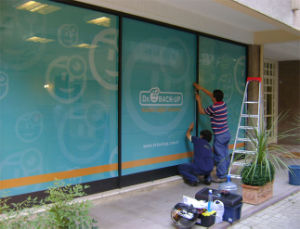 Advertising Window Covering One Way Vision Sticker Banner pictures & photos