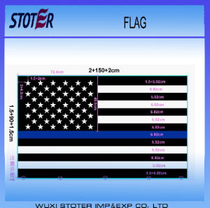 3X5FT Screen Printing Thin American Flag with Blue Line pictures & photos