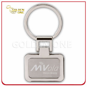 Rectangle Custom Embossed & Sandblasted Finish Metal Key Ring pictures & photos