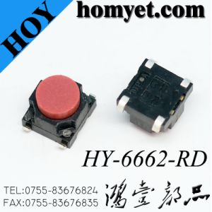 SMD Tact Switch with Red Button/Black Push Button Switch pictures & photos