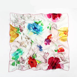 Silk Big Square Scarf 110 * 110cm for Women