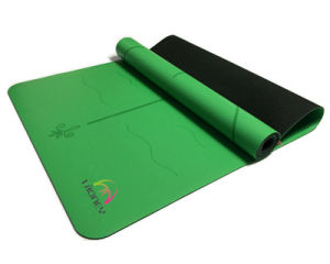 Premium PU Polyurethane Yoga Mat Lasered Pattern Super Anti-Slip pictures & photos