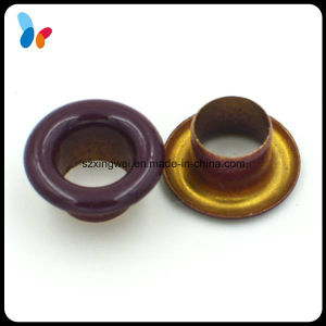 Small Size Brushed Color Round Metal Eyelet for Shoes pictures & photos