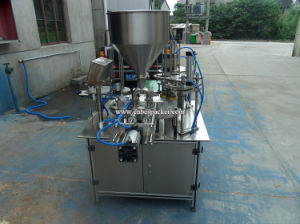 Automatic Drink Tube Cup Filling Sealing Machine for Cup Packing pictures & photos