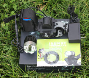 Super Bright LED Bicycle Light Rechargeable with Rubber pictures & photos