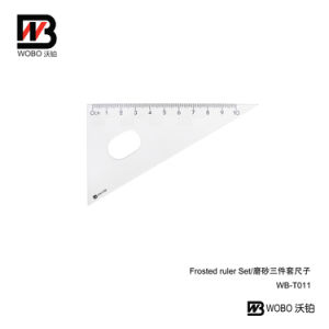 3 in 1 Frosted Plastic Ruler Set for Student Office Stationery pictures & photos