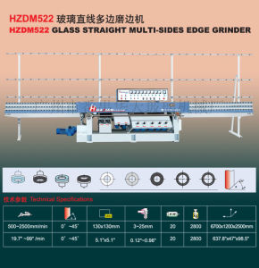 Glass Edging Machine/Glass Straight-Line Multi Edge Grinder (HZDM522) K188 pictures & photos