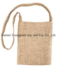 Promotional Satchel Natural Jute Burlap Shoulder Messenger Bags pictures & photos