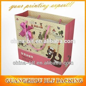 Custom Made Logo Printed Brand Paper Gift Bag for Shopping Wholesale (BLF-PB045) pictures & photos