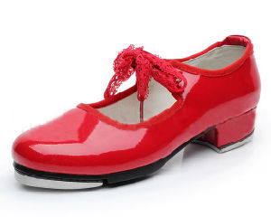 Women′s and Girl′s Red Patent Leather Tap Shoes pictures & photos