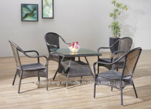 Promotion Metal PE Rattan Dining Set