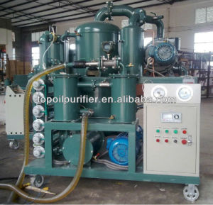 Double-Stage Vacuum Oil Purifier for Transformer Oil Dehydration and Degasification pictures & photos