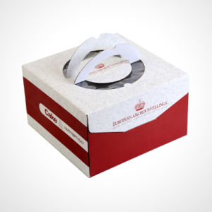 New Style Cake Box with Clear Winow and Handle pictures & photos