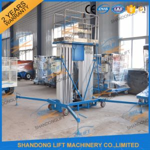 Aluminium Alloy Portable Hydraulic Lift Vertical Electric Man Lift pictures & photos