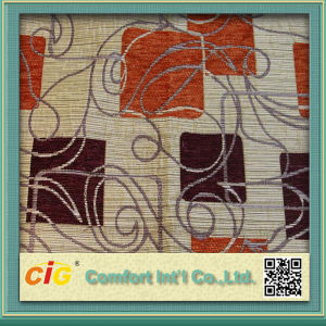 Chenille Material Sofa Fabric with Jacquard Pattern pictures & photos