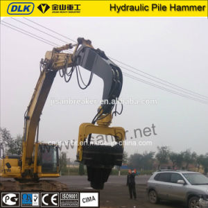 Excavator Mounted Vibro Hammer on Excavator pictures & photos