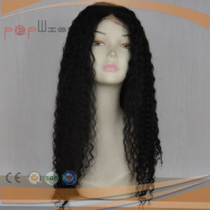 Long Virgin Human Remy Black Hair Afro Curls Full Lace Wig pictures & photos