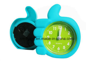Multi-Color Home Decoration Double Bell Sound off Silicone Mini Table Alarm Clock pictures & photos