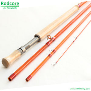 Yellow Yr1206-4 Classic Moderate Fiberglass Spey Fly Rod pictures & photos