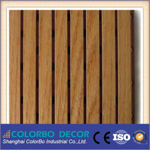 Fireproof Performance MDF Wooden Grooved Acoustic Panel with Soundproof Ceiling pictures & photos