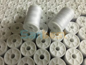 White Color Spun Polyester Thread on Small Reels pictures & photos