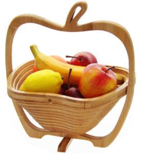 Fruit Basket Picnic Basket Folding Storage Basket Apple Shape Basket Factory pictures & photos