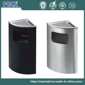 Stainless Steel Triangle Design Ashtray Bin pictures & photos
