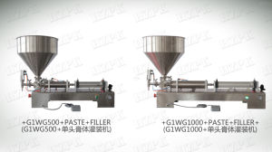 Paste Filling Machine with Hopper pictures & photos