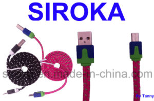 Fabric Braided Customized Micro USB Cable for Blackberry pictures & photos