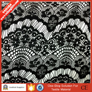 2016 Tailian New Design Black Timming Lace Fabric pictures & photos