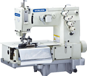 Wd-2000c Double Needle Flat Bed Belt Loop with Front Fabric Cutter (the width of belt loop) pictures & photos