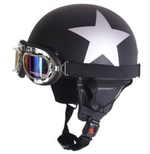 Halley Leather Helmets with Goggles pictures & photos