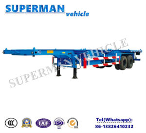 Cimc 40FT 2 Axle Skeleton Container Chasiss Utility Cargo Frame Semi Trailer pictures & photos