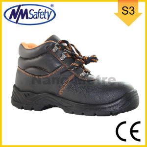 Nmsafety Middle Cut CE Approved Leather Men Work Boots pictures & photos