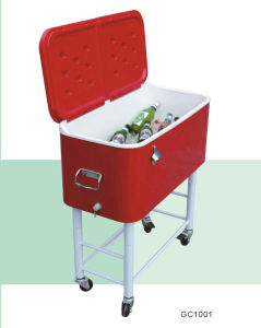 Metal Backyard Cooler Cart with Wheels pictures & photos