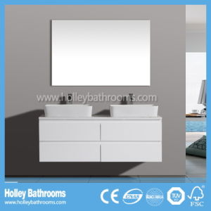 Australia Style Popular Modern MDF Bathroom Cabinet with Two Basins (BC112V) pictures & photos