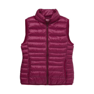 Ladies Sleeveless Hot Sell Custom Printing Winter Down Coat pictures & photos