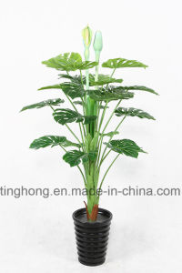 Home Decoration Artificial Plants with 21 Green Monstera Leaves
