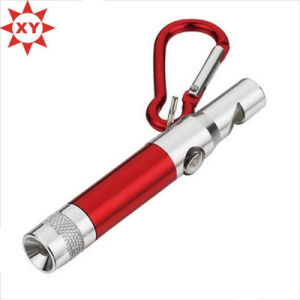 Novetly Custom Aluminum LED Keychain Whistle Wholesale pictures & photos