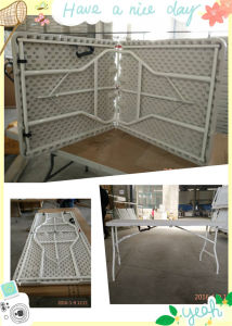 5FT Plastic Folding Table with White Color